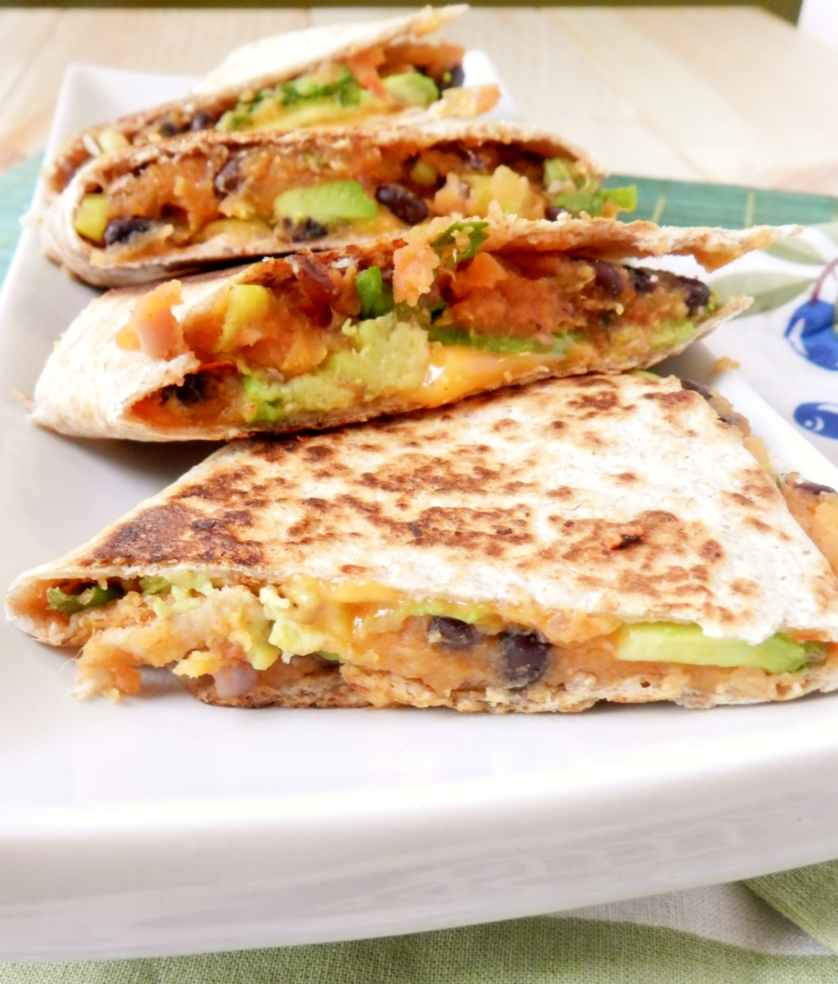 But not just any quesadillas, these ones are sweet potato black bean ...