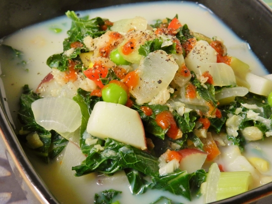 Pesco vegetarian twosaucysisters for Healthy fish chowder