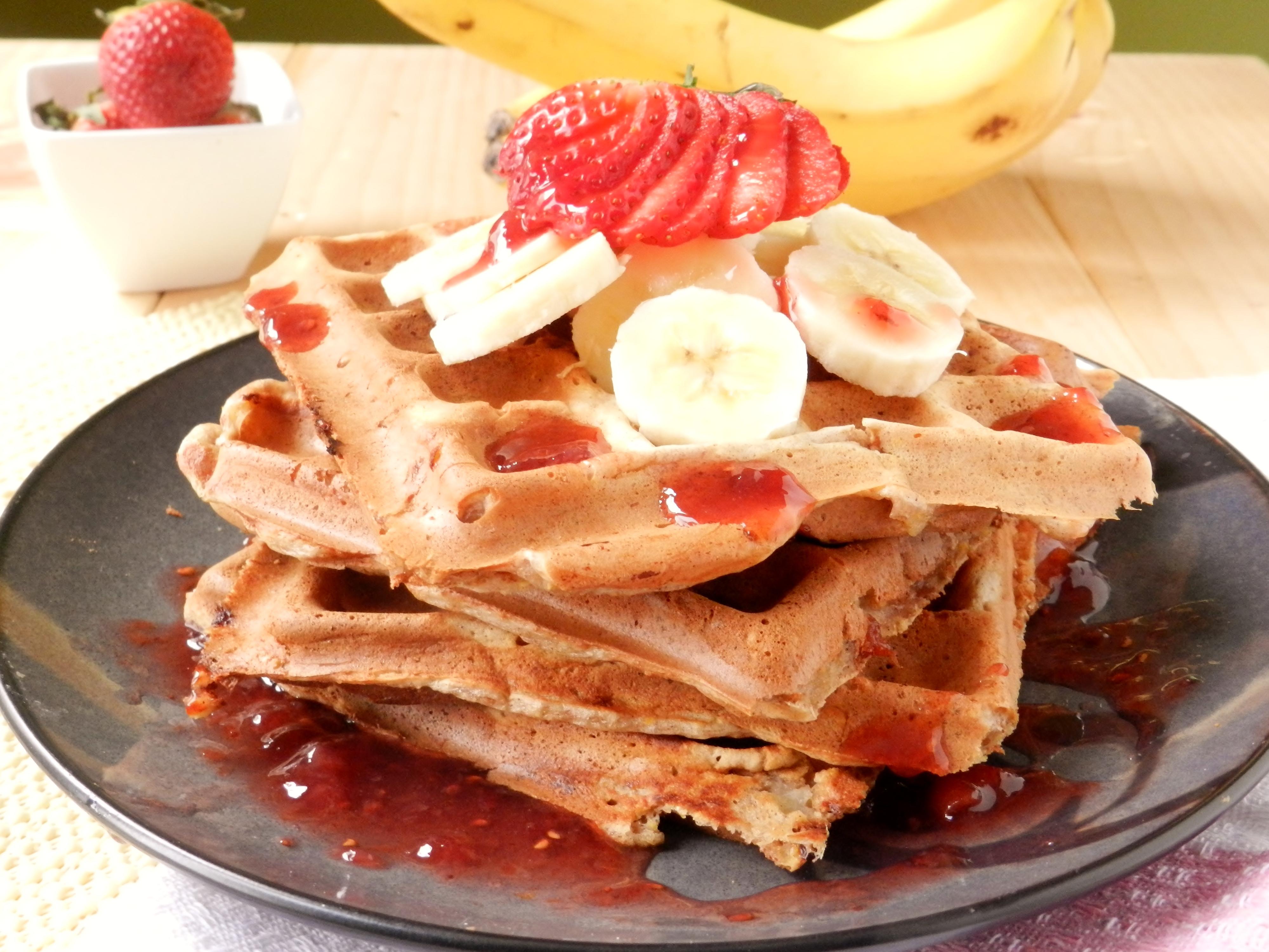 Banana Waffles | twosaucysisters