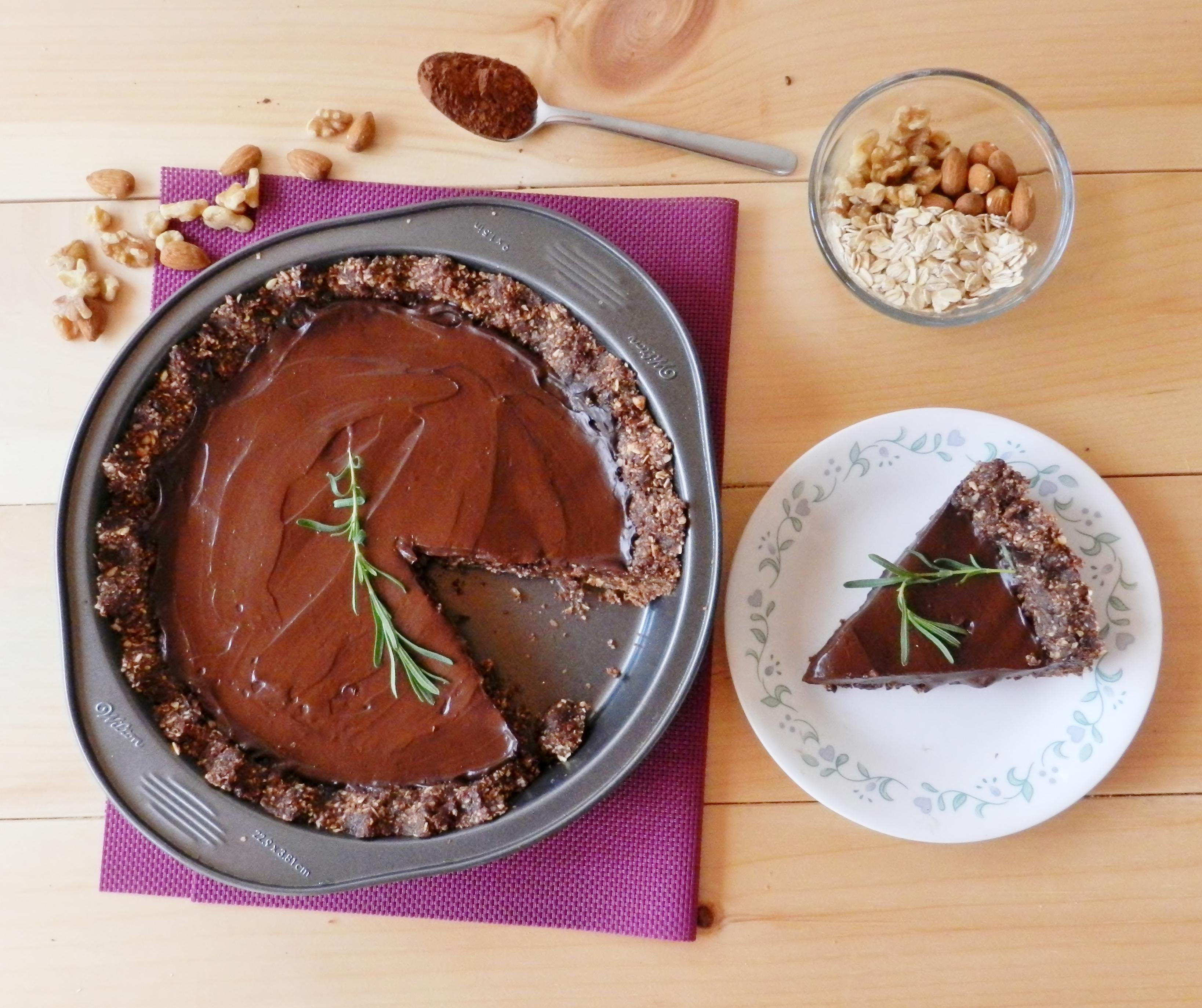 No-Bake Chocolate Lavender Tart
